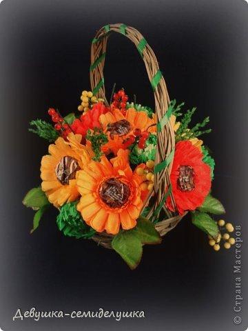 """Букет из конфет """"Осенний вальс"""" фото 3"""