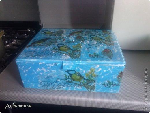 Теперь это будет моей аптечкой. Конечно не просто белый ящик, но я опять не довольна.  фото 1