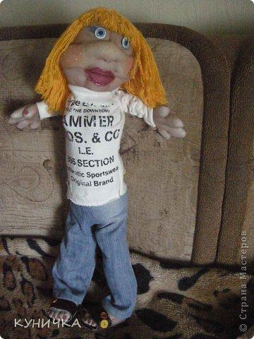 вот как-то родилась такая большая куклеха,правда со своими изъянами и своим характером..поехала покорять одну семью по их просьбе фото 2