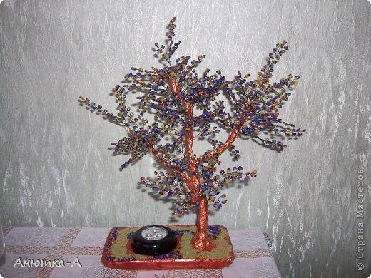 Поделка изделие Бисероплетение Дерево фантазий или ночник Бисер фото 3.