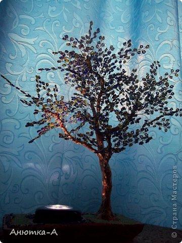 Поделка изделие Бисероплетение Дерево фантазий или ночник Бисер фото 2.