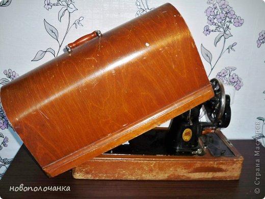 Декор предметов Мастер-класс Аппликация Ассамбляж Старая швейная машинка МК Дерево Клей Кожа Материал природный Мех фото 4