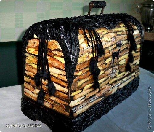 Декор предметов Мастер-класс Аппликация Ассамбляж Старая швейная машинка МК Дерево Клей Кожа Материал природный Мех фото 1