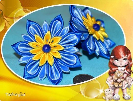 Привет! Я с новым хорошим настроением )))) Резиночки-канзаши фото 1