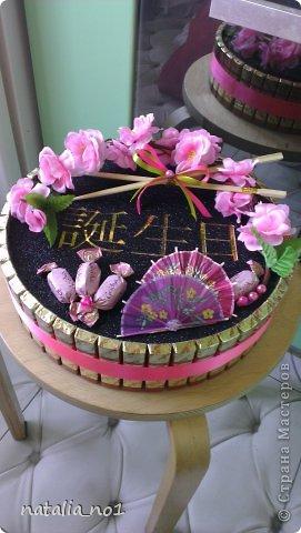 """Композиция в японском стиле. Иероглифы дословно переводятся """"День рождения"""" фото 1"""