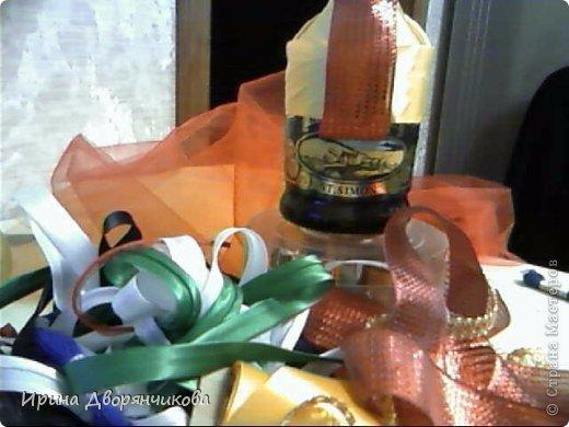 """Ну вот и моя бутылочка  для конкурса https://stranamasterov.ru/node/631443 """"созрела""""....Прошу извинить за качество фоток,пришлось фотографировать на вебку и на телефон ... фото 6"""