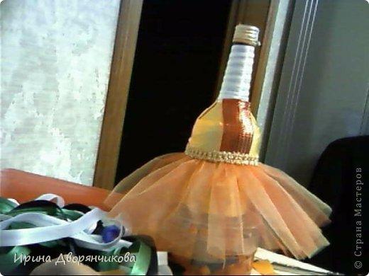 """Ну вот и моя бутылочка  для конкурса https://stranamasterov.ru/node/631443 """"созрела""""....Прошу извинить за качество фоток,пришлось фотографировать на вебку и на телефон ... фото 7"""
