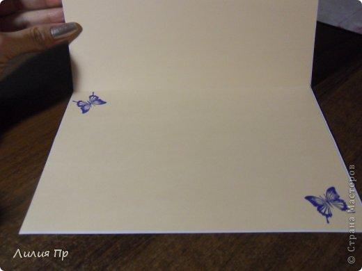 Купила я себе на днях набор Очень красивой бумаги... и получилась такая открытка. фото 7