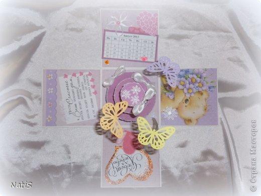 После коробочки для подруги сразу же поступил заказ на свадебную коробочку)) Получилось простенько, всем понравилось)))) фото 5
