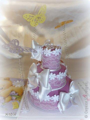 После коробочки для подруги сразу же поступил заказ на свадебную коробочку)) Получилось простенько, всем понравилось)))) фото 6