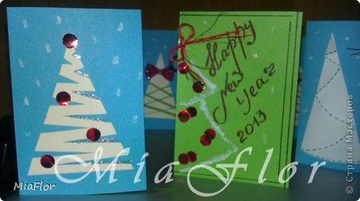 Прошлой осенью я перешла на новую работу. Ближе к Новогодним праздникам я начала подумывать как же мне поздравить своих новых коллег. И, как говорится, Google пришел мне в помощь. Так началось мое увлечение поделками из бумаги. Буквально за один вечер в моих руках родилось больше 10 открыток для коллег:) фото 3