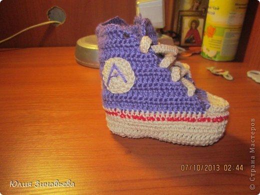 Эти кроссовочки-пинетки тоже подарочек племяшу)))) Идея не моя. фото 2