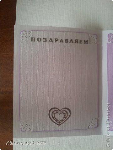 Добрый   вечер, уважаемые  мастера и мастерицы!!!И вновь у меня свадебные открыточки. Заходите ко мне в гости... Жду ваши комментарии! фото 6