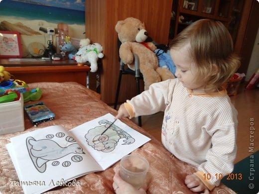 """Здравствуйте Жители СМ!!!Сегодня решила выставить творчество моей дочки Ириши,ей 1 год и 6 мес. Потихоньку начинаю и её приучать к творчеству.А это наши первые шедевры """"Осеннее дерево"""".  фото 5"""