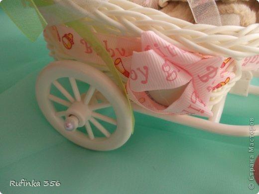 ДОБРОГО ВРЕМЕНИ СУТОК, ДОРОГИЕ МАСТЕРИЦЫ! Презентую комплектик для новорожденной: открыточка ф. А 4, и велосипедик сладкий. фото 2