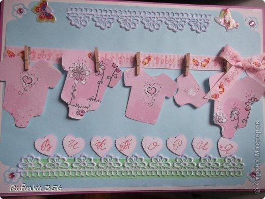 ДОБРОГО ВРЕМЕНИ СУТОК, ДОРОГИЕ МАСТЕРИЦЫ! Презентую комплектик для новорожденной: открыточка ф. А 4, и велосипедик сладкий. фото 4