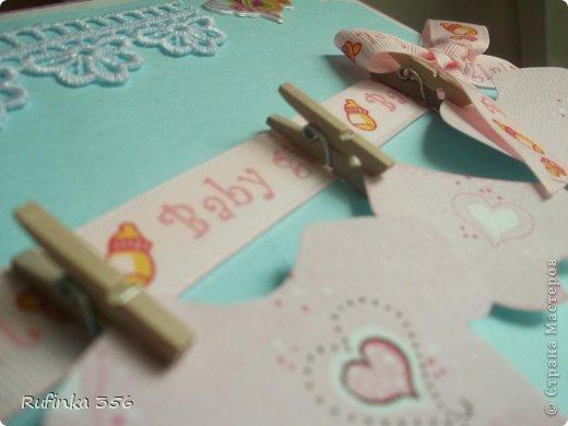 ДОБРОГО ВРЕМЕНИ СУТОК, ДОРОГИЕ МАСТЕРИЦЫ! Презентую комплектик для новорожденной: открыточка ф. А 4, и велосипедик сладкий. фото 5
