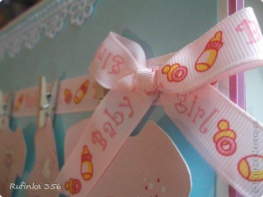 ДОБРОГО ВРЕМЕНИ СУТОК, ДОРОГИЕ МАСТЕРИЦЫ! Презентую комплектик для новорожденной: открыточка ф. А 4, и велосипедик сладкий. фото 3