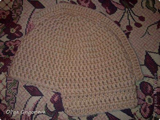 """Первоначальный вид шапки. """"Забрало"""" перевязала (картинки внизу) фото 5"""