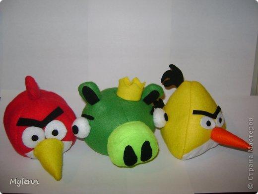 """Доброго времени суток,дорогие Мастера и Мастерицы:) Представляю на ваш суд свою версию персонажей популярной игры Angry Birds. Игрушки были сшиты по просьбе """"большого ребёнка""""))) фото 1"""