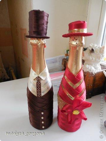 украшенные бутылки фото 11