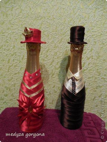 украшенные бутылки фото 14