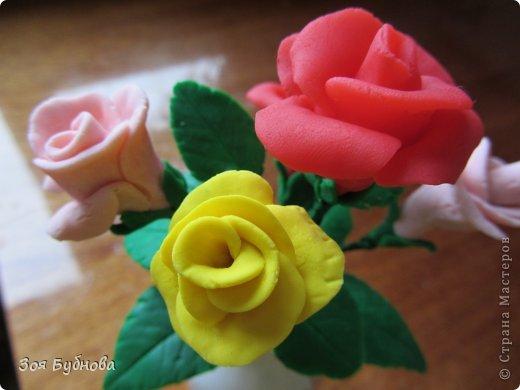 Добрый день, жители прекрасной страны. Это мои первые розочки.  Мне кажется, что они больше напоминают розы с торта, чем розы, которые выставляют здесь мастера. Но, надеюсь, они поднимут вам настроение своим смешным видом...... фото 2