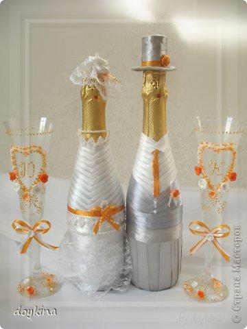Здравствуйте все!) Я в прошлой своей записи писала о большом заказе на свадьбу,я его выполнила.Рада показать результат. были заказаны лебеди с рафаэлло, бокалы и бутылочки. За МК по бутылкам благодарна Maxima_02. фото 4