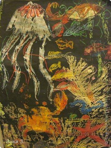 восковой карандаш сверху покрыт чёрной краской,любимая работа моей мамы фото 1
