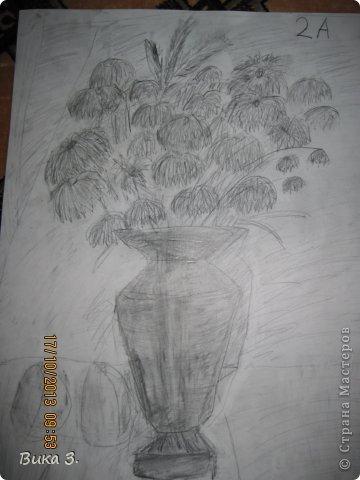 восковой карандаш сверху покрыт чёрной краской,любимая работа моей мамы фото 2