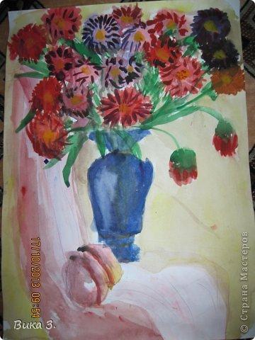 восковой карандаш сверху покрыт чёрной краской,любимая работа моей мамы фото 3
