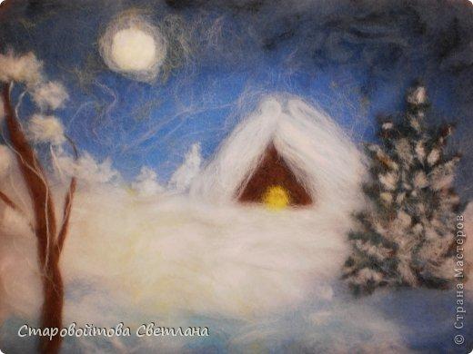 Зимняя ночь (в рамке) фото 2