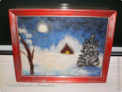 Зимняя ночь (в рамке) фото 1