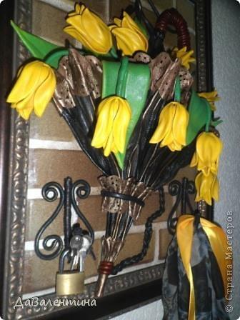 Мастер-класс Поделка изделие Ассамбляж Картина - Ключница из кожи Погода в доме  Кожа фото 6