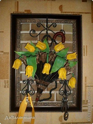 Мастер-класс Поделка изделие Ассамбляж Картина - Ключница из кожи Погода в доме  Кожа фото 52