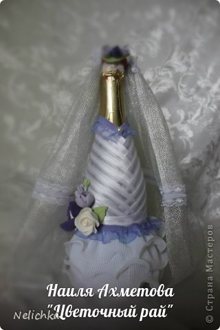 Свадьба, которая состоялась 13 сентября 2013 года. Каскадный букет невесты бело-фиолетовых оттенков из орхидей роз и фрезий. фото 8