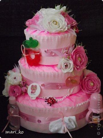 Торт из памперсов. фото 7