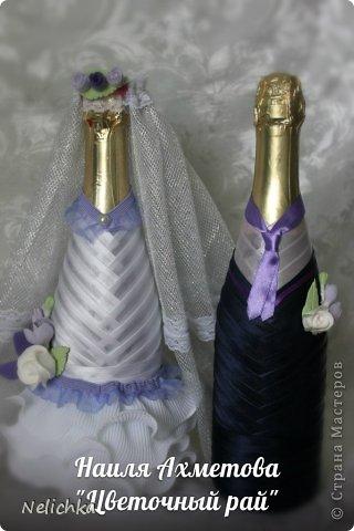 Свадьба, которая состоялась 13 сентября 2013 года. Каскадный букет невесты бело-фиолетовых оттенков из орхидей роз и фрезий. фото 7