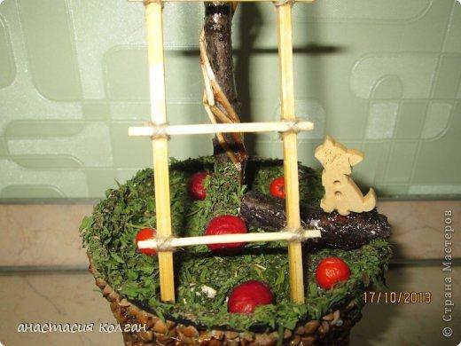 """Первое наше дерево. Делали вместе с сынишкой к конкурсу """"Осень"""" в детском саду. фото 2"""