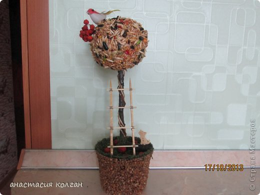 """Первое наше дерево. Делали вместе с сынишкой к конкурсу """"Осень"""" в детском саду. фото 1"""
