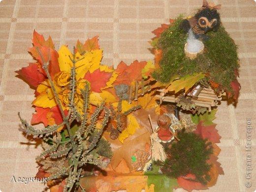 Работу делали за один день.Утром мох и листья еще в лесу лежали... фото 2