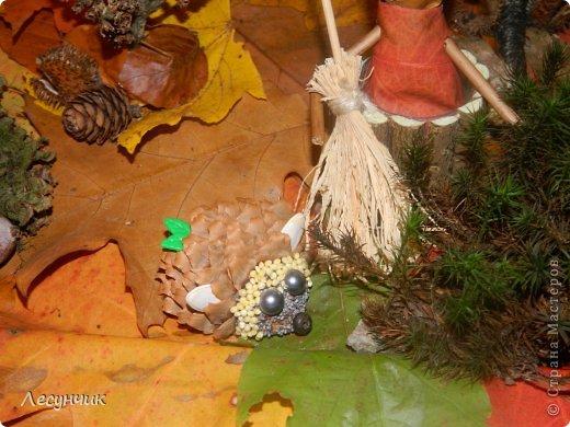 Работу делали за один день.Утром мох и листья еще в лесу лежали... фото 6