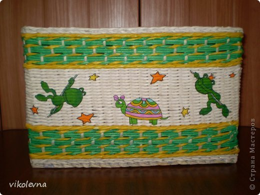 привет все!!!!!!сплелся вот такой коробок,для крестника-племянника.использовала идею Ольги Михайловны (  https://stranamasterov.ru/node/641533?c=favorite  ) спасибочки!!!!!! фото 1