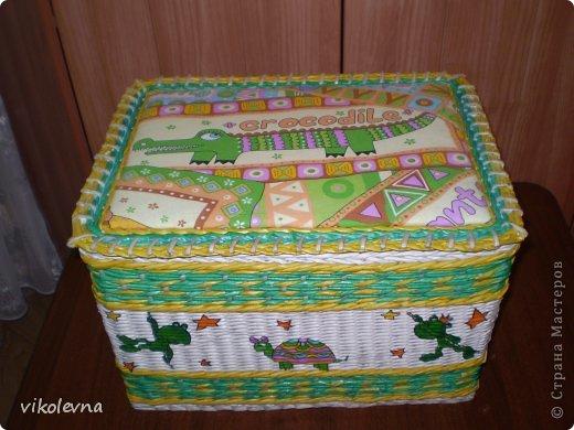 привет все!!!!!!сплелся вот такой коробок,для крестника-племянника.использовала идею Ольги Михайловны (  https://stranamasterov.ru/node/641533?c=favorite  ) спасибочки!!!!!! фото 4