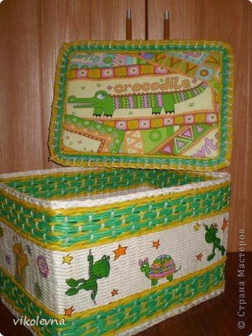 привет все!!!!!!сплелся вот такой коробок,для крестника-племянника.использовала идею Ольги Михайловны (  https://stranamasterov.ru/node/641533?c=favorite  ) спасибочки!!!!!! фото 5