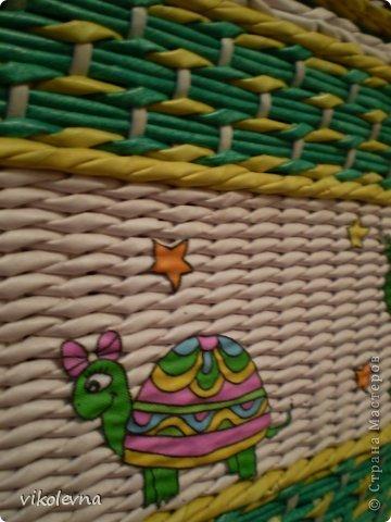 привет все!!!!!!сплелся вот такой коробок,для крестника-племянника.использовала идею Ольги Михайловны (  https://stranamasterov.ru/node/641533?c=favorite  ) спасибочки!!!!!! фото 6