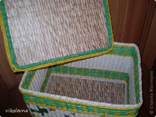 привет все!!!!!!сплелся вот такой коробок,для крестника-племянника.использовала идею Ольги Михайловны (  https://stranamasterov.ru/node/641533?c=favorite  ) спасибочки!!!!!! фото 7