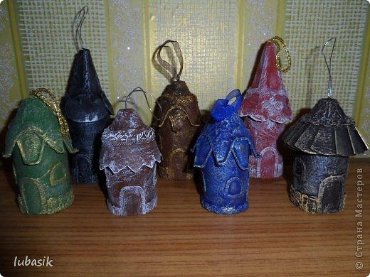 Мастер-класс Поделка изделие Новый год Бумагопластика Мои новогодние домики Картон Клей Краска фото 1