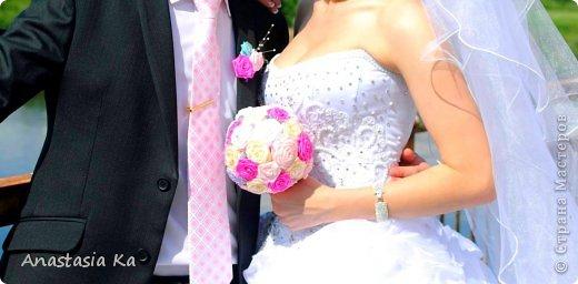 Мои свадебные хлопоты. О розовом цвете даже и речи не шло. Да вообще не было никакого решения по поводу цвета, как то само собой получилось, что везде присутствовал розовый :) фото 9