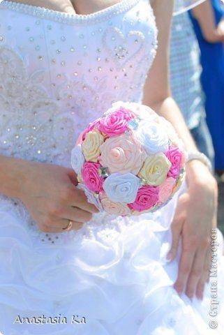 Мои свадебные хлопоты. О розовом цвете даже и речи не шло. Да вообще не было никакого решения по поводу цвета, как то само собой получилось, что везде присутствовал розовый :) фото 8